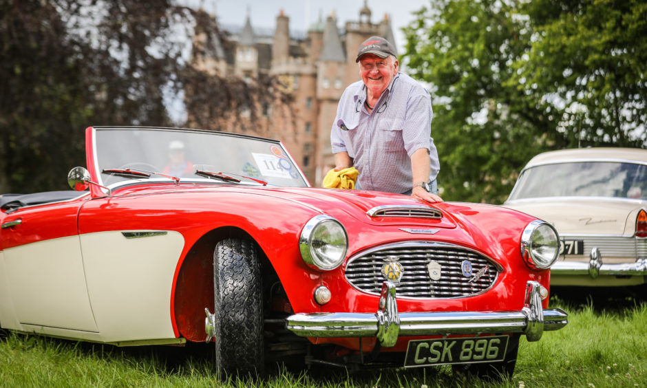 Robert Brass travelled over from the Isle of Arran with his 1959, Austin Healy 300 mk1.
