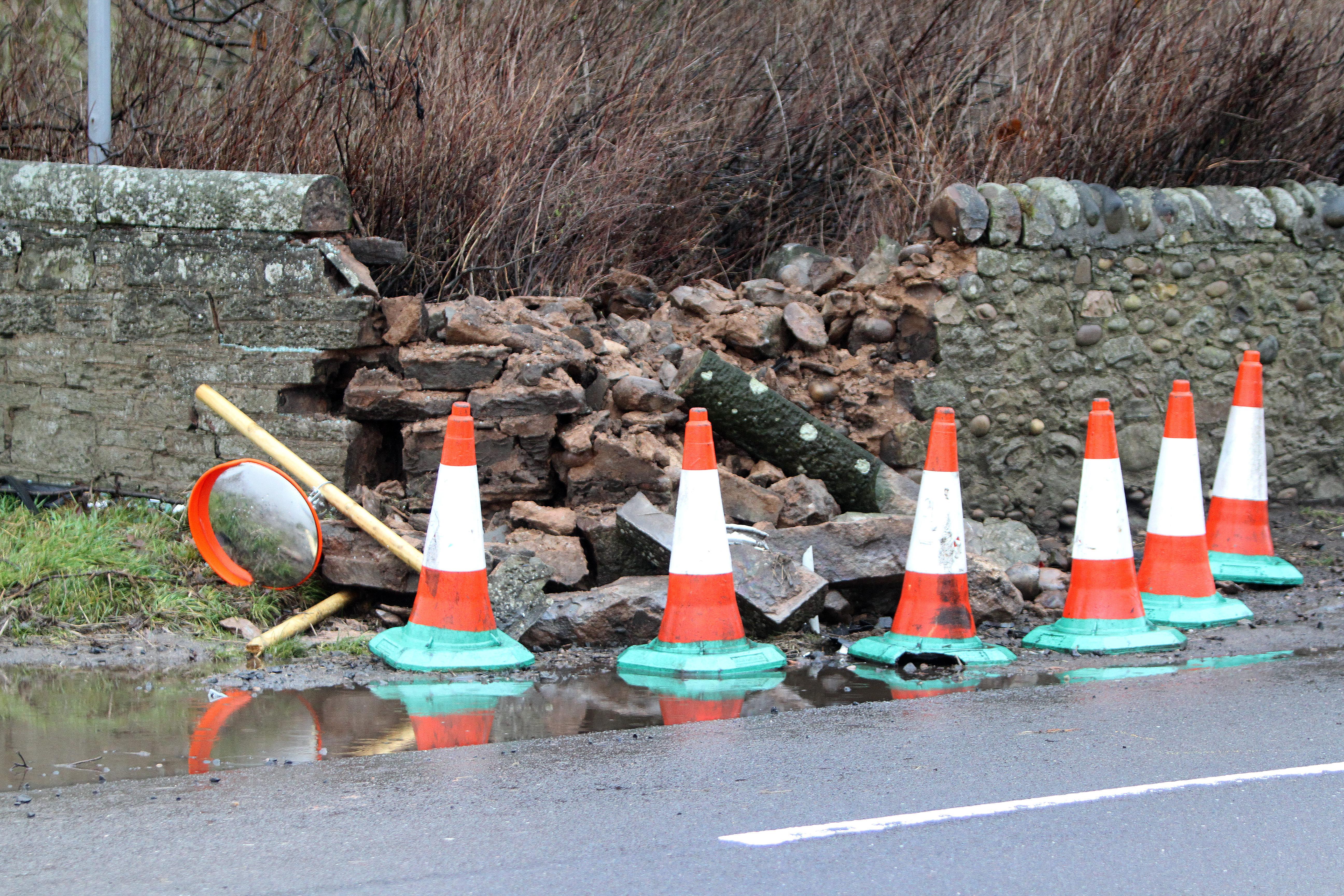 The crash scene near Panbride House.
