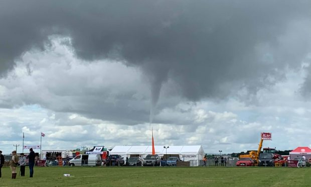Karrena Kerr was watching events at Kirrie show when the waterspout appeared.