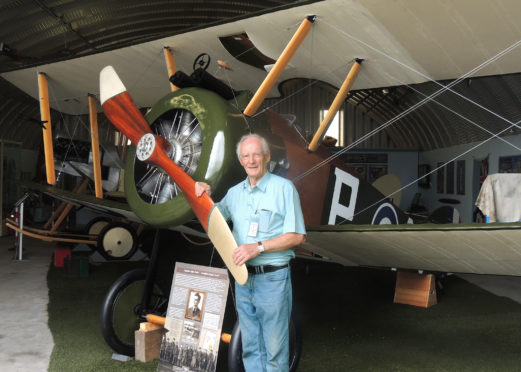 Project leader Julian Stevenson with the finished aircraft.