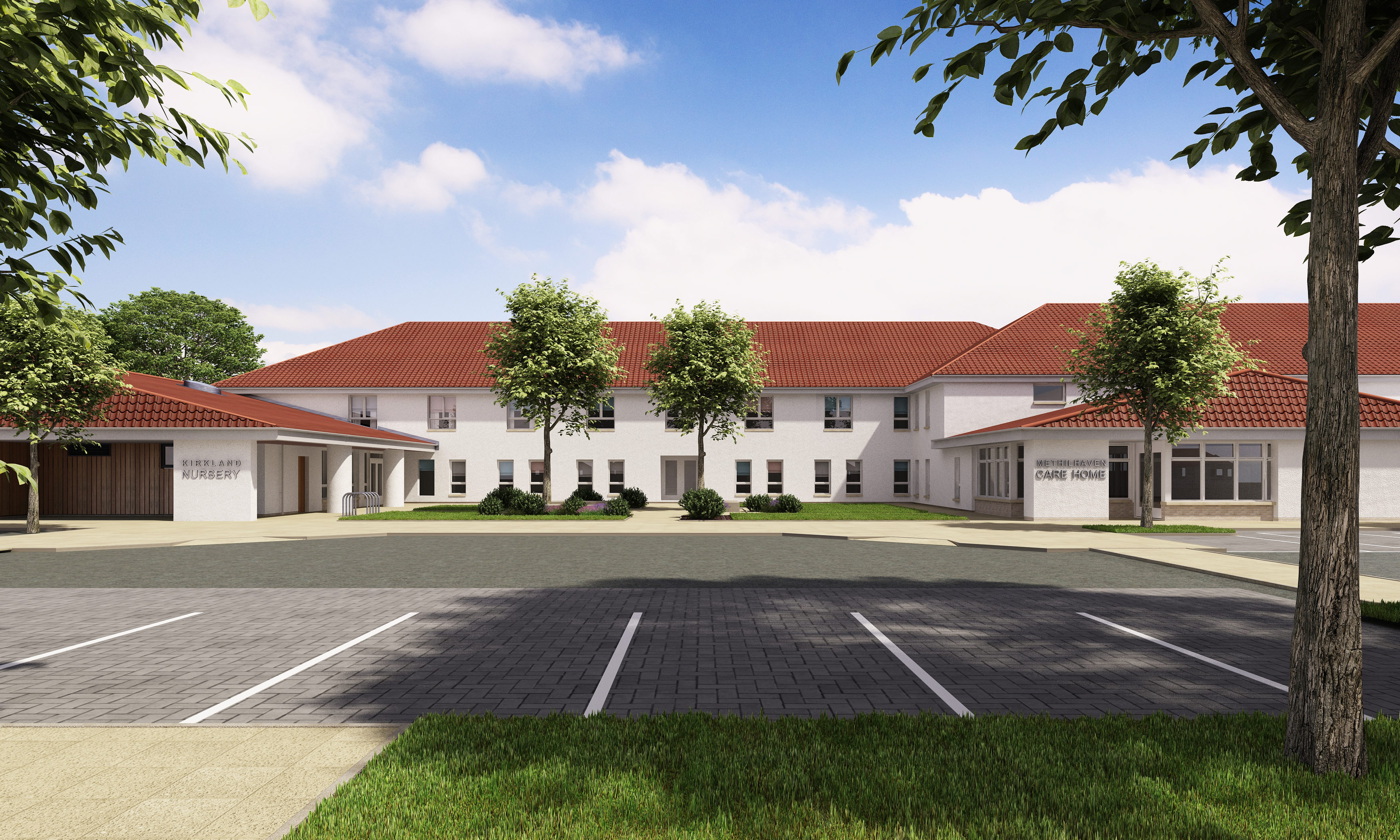 An artists impression of how the care home and nursery will look