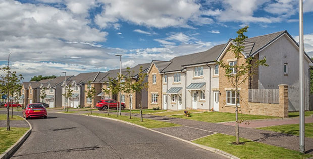The housing estate.