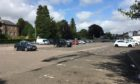 Forfar's sparsely occupied Myre car park on Saturday afternoon