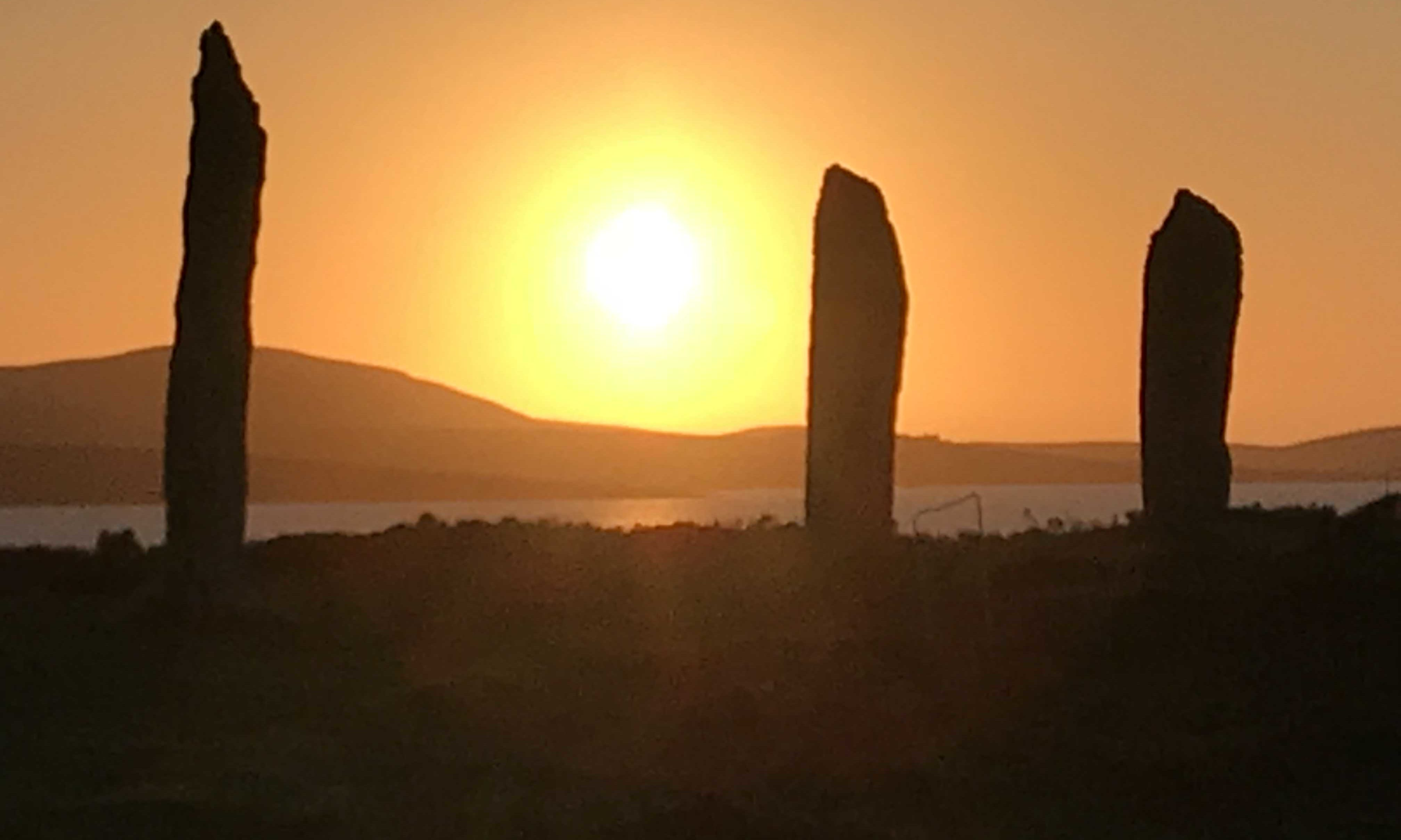 Ring of Brodgar at sunset