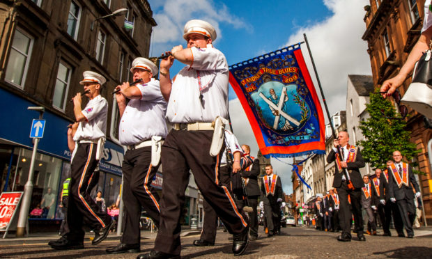 A recent Orange Order march through Perth