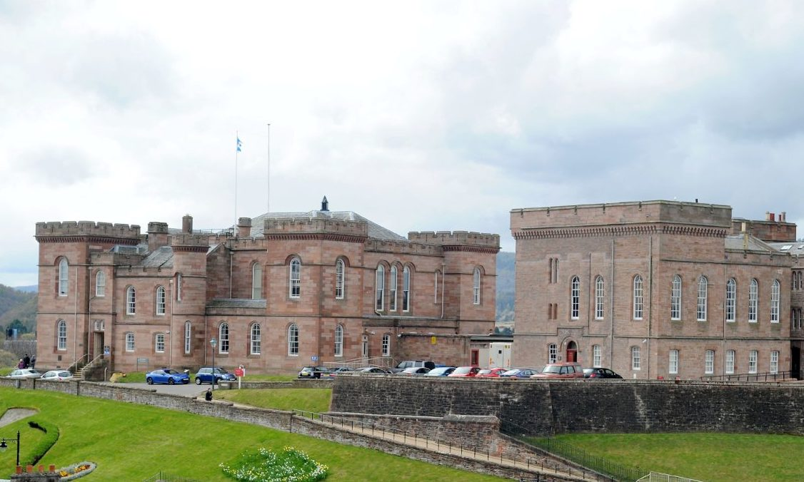Inverness Castle which contains the city's Sheriff Court.