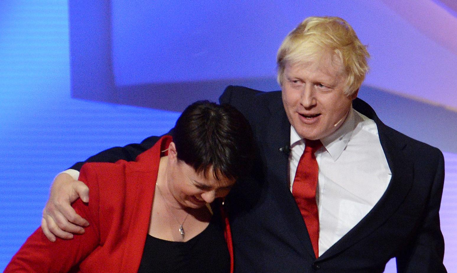 Boris Johnson and Scottish Conservative leader Ruth Davidson in 2016.