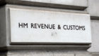 A HM Revenue and Customs (HMRC) sign.