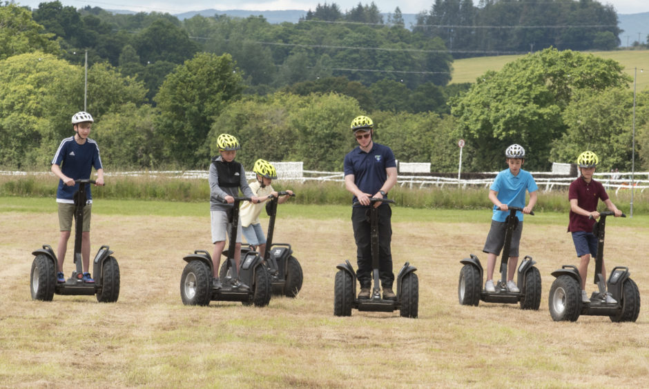 Segway racing at Perth Family Fun day.