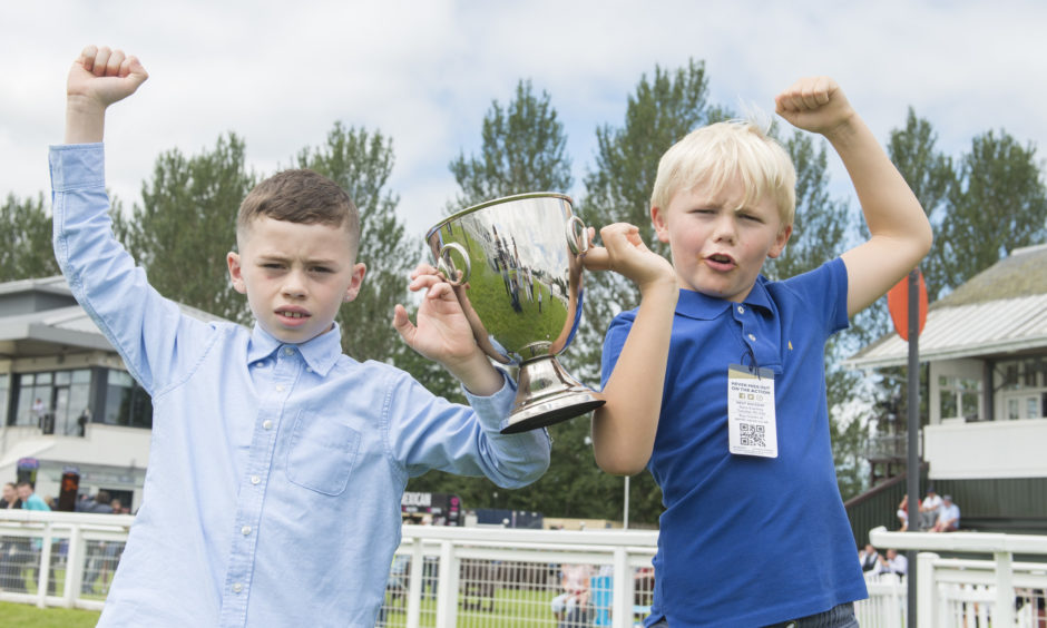 Joint winners of one of the races; Kaii Wann (9) and Henry Alexander (8).