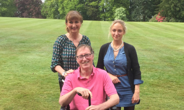 Richard with wife Elaine and daughter Lorna.