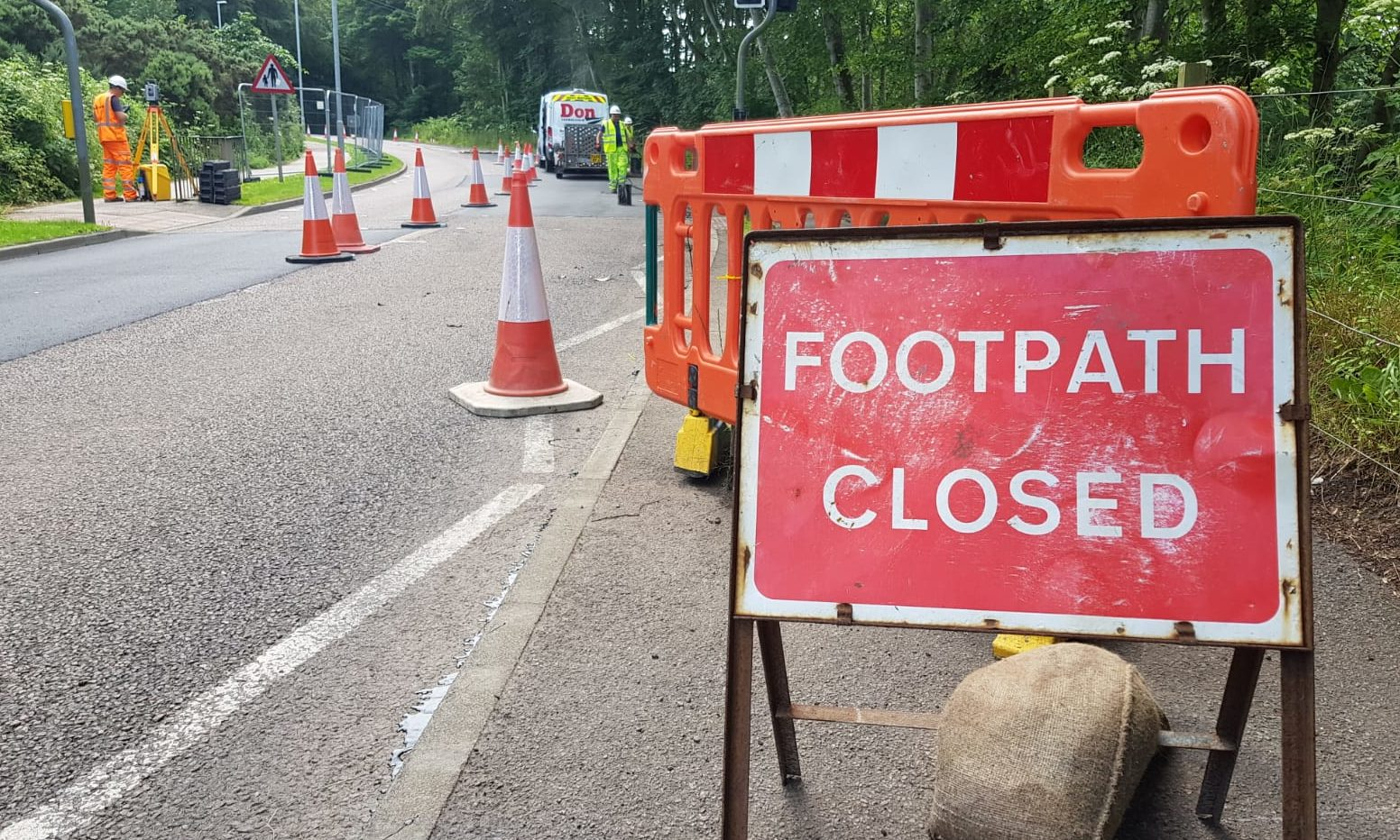The road closure in Stonehaven.