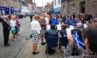 Crowds in Forfar have welcomed Edward, and Sophie, the new Earl and Countess of Forfar.