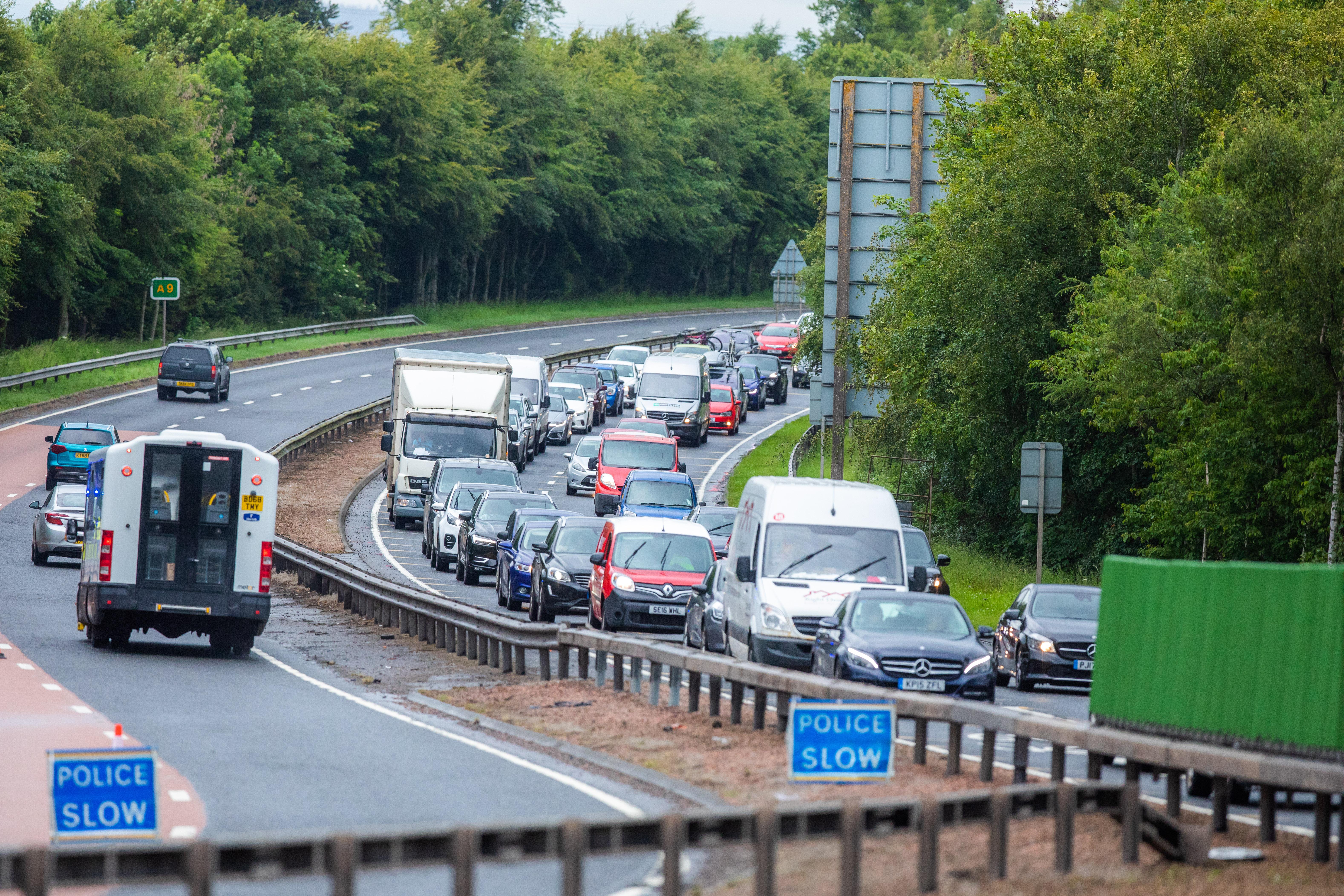 A9 Dual Carriageway, Near Broxden roundabout
