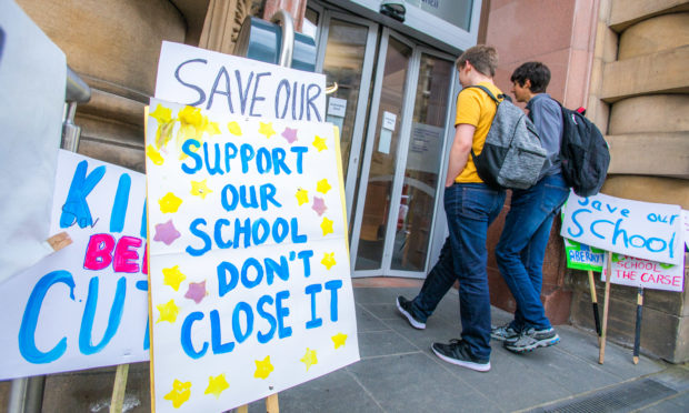 Campaigners could see Abernyte Primary rescued form the clutches of closure.