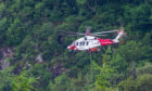 A Coastguard rescue helicopter.