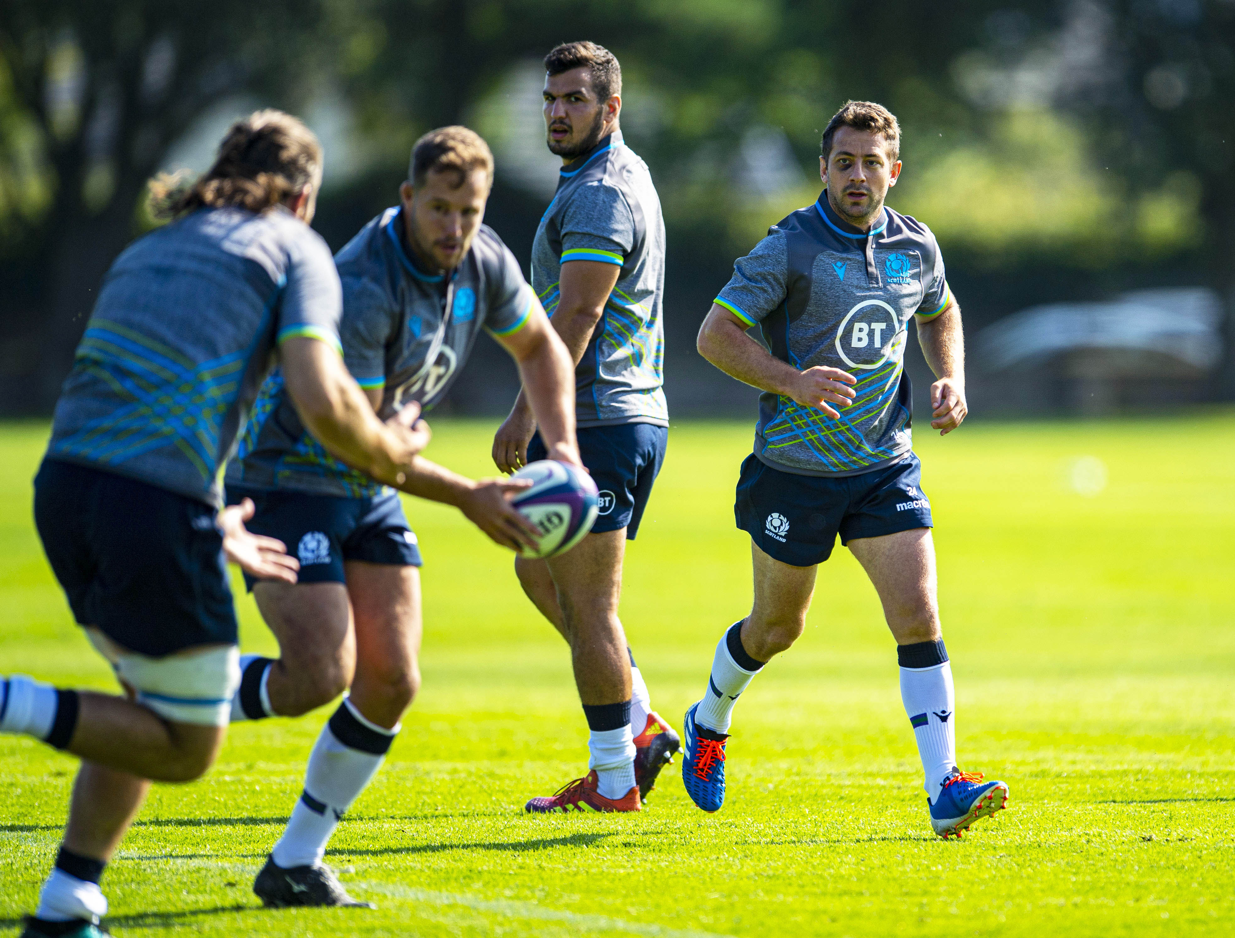 Scotland's Greig Laidlaw in action.