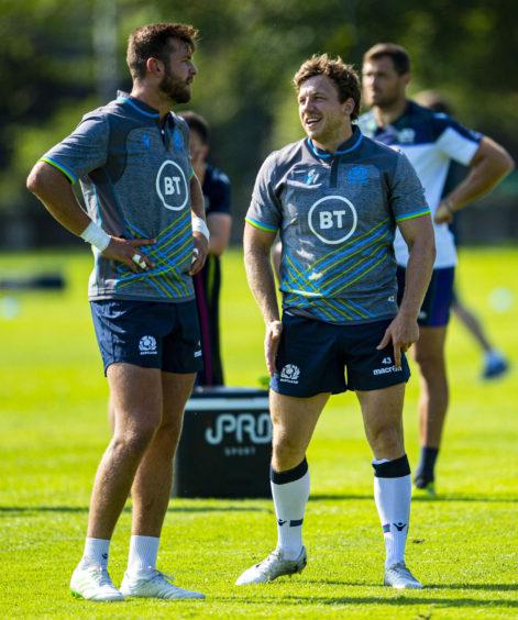 Scotland's Ryan Wilson (L) and Hamish Watson (R).