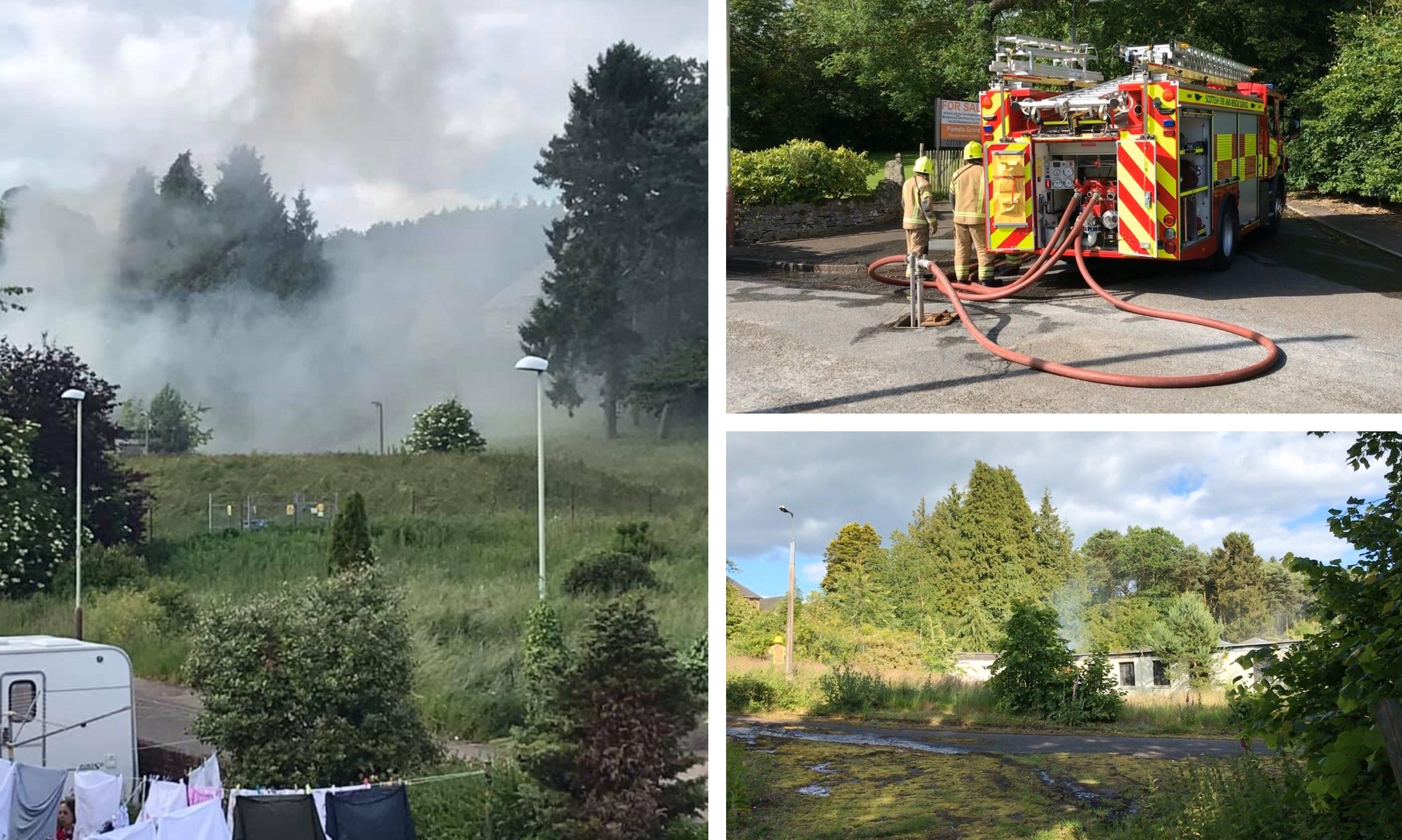 Tuesday's blaze at Strathmartine Hospital.