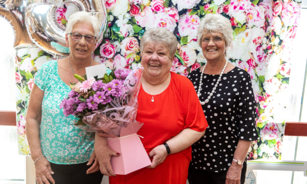 Left to right: Fellow retirees Joan Shanks, Amelia Howie and Ella Nielson.