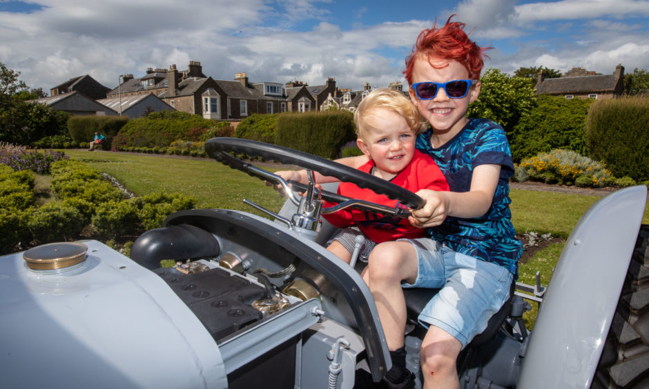 Ruairi Shepherd (6) and Callan Shepherd (1) on the tractor. All pictures by Steve Brown / DCT Media