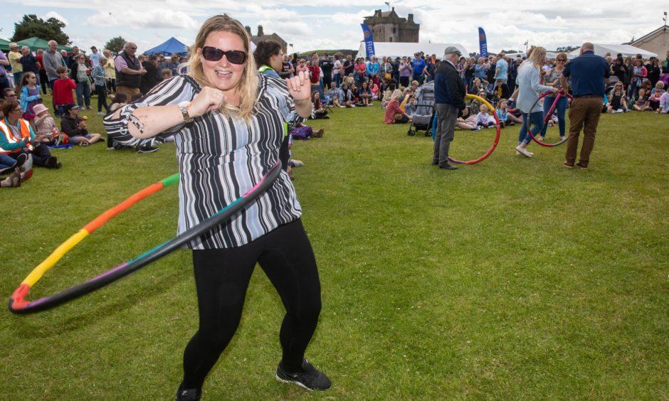 Natalie Boyd (33) from Douglas tries Hula Hoop Aerobics Fitness.