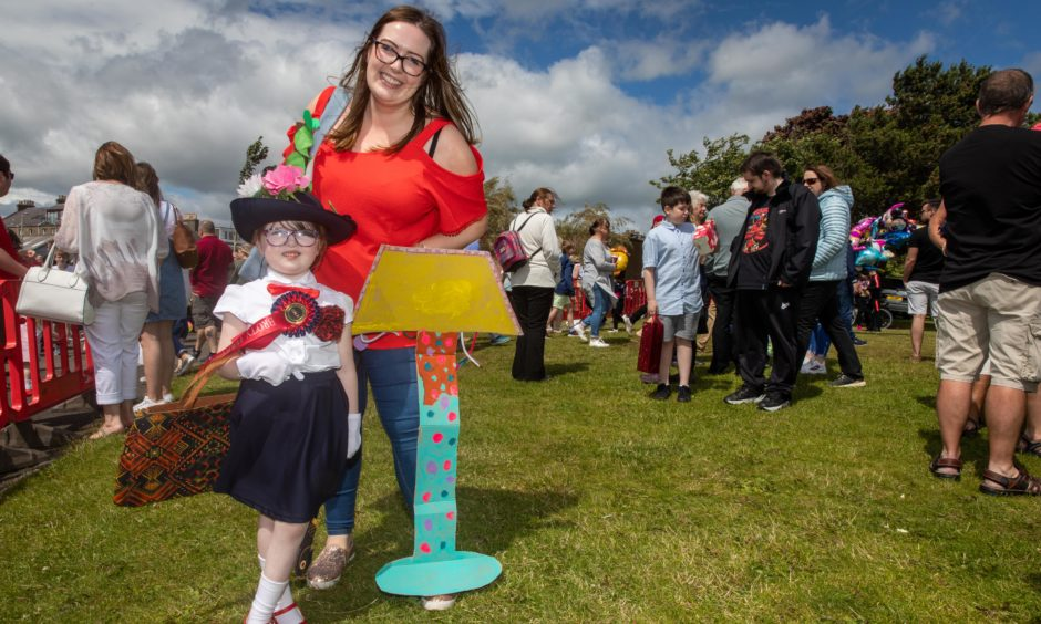 Best Overall Costume goes to Sophie Douglas (5) as Mary Poppins  from Broughty Ferry with mum Rachel.