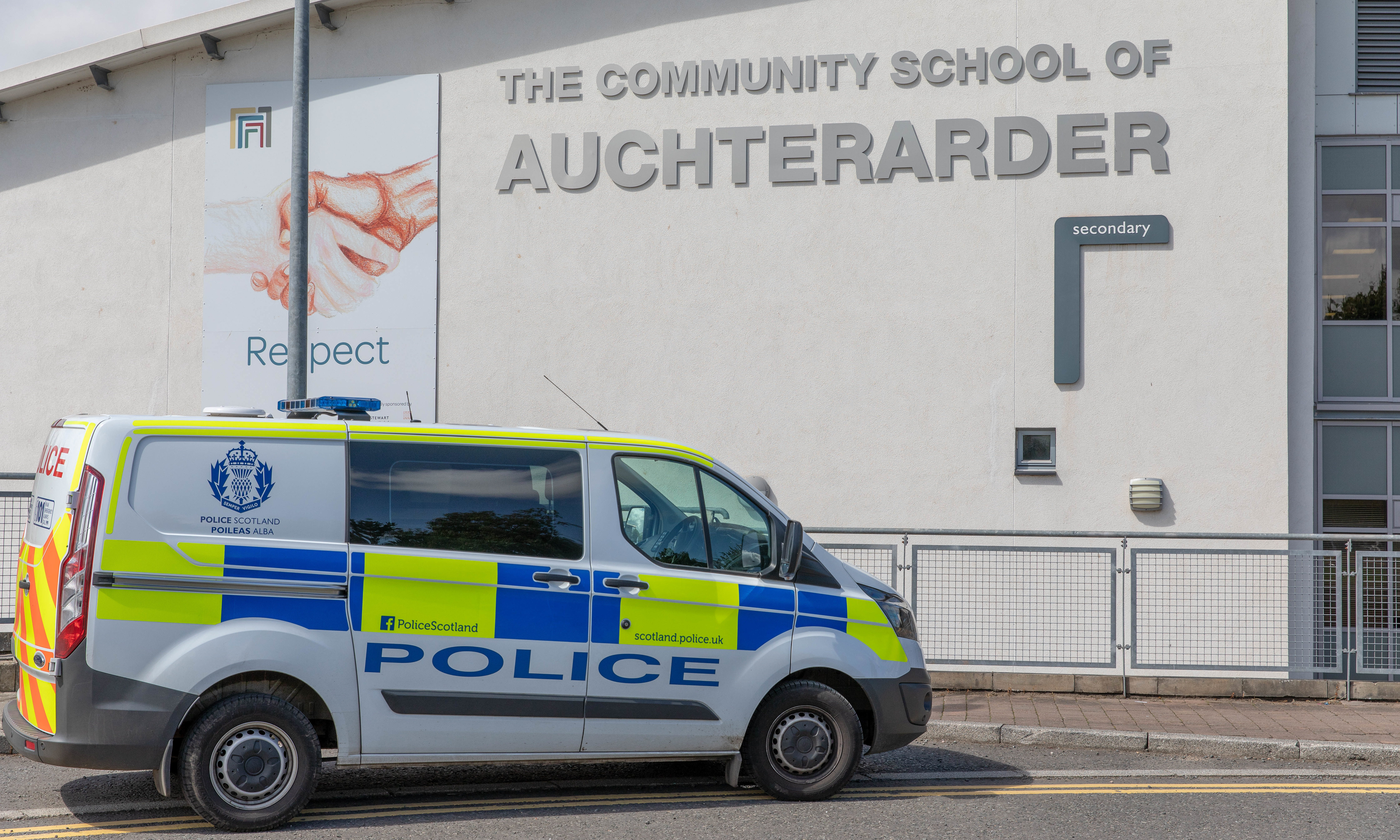 Graffiti at the Community School in Auchterarder, which appeared this month, is the latest in a string of incidents.