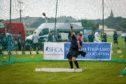 This year's games featured heavyweight events including shot putt for under-18s.