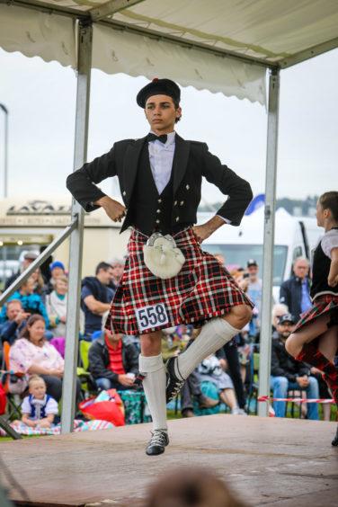 Highland dancers.