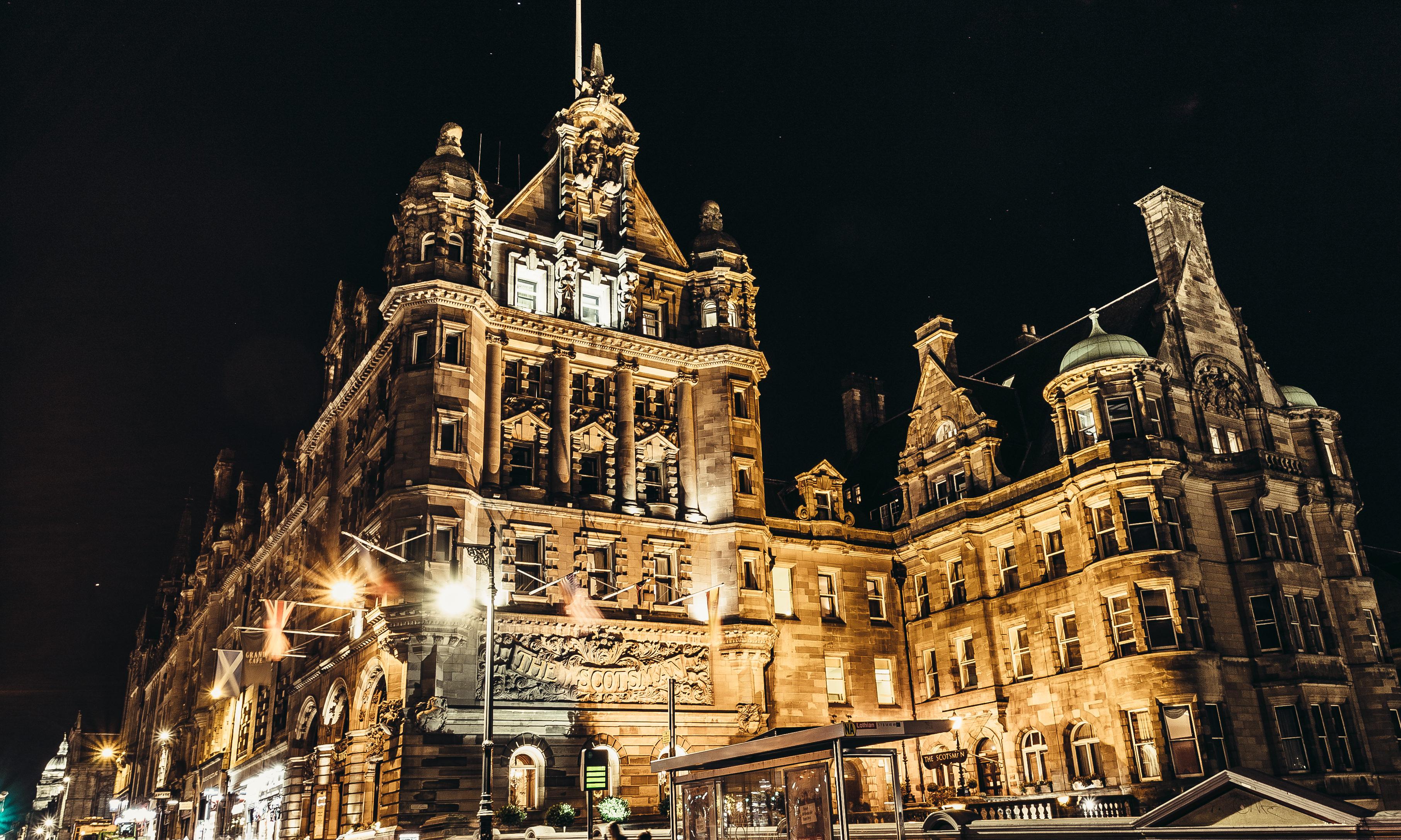 The Scotsman Hotel in Edinburgh.