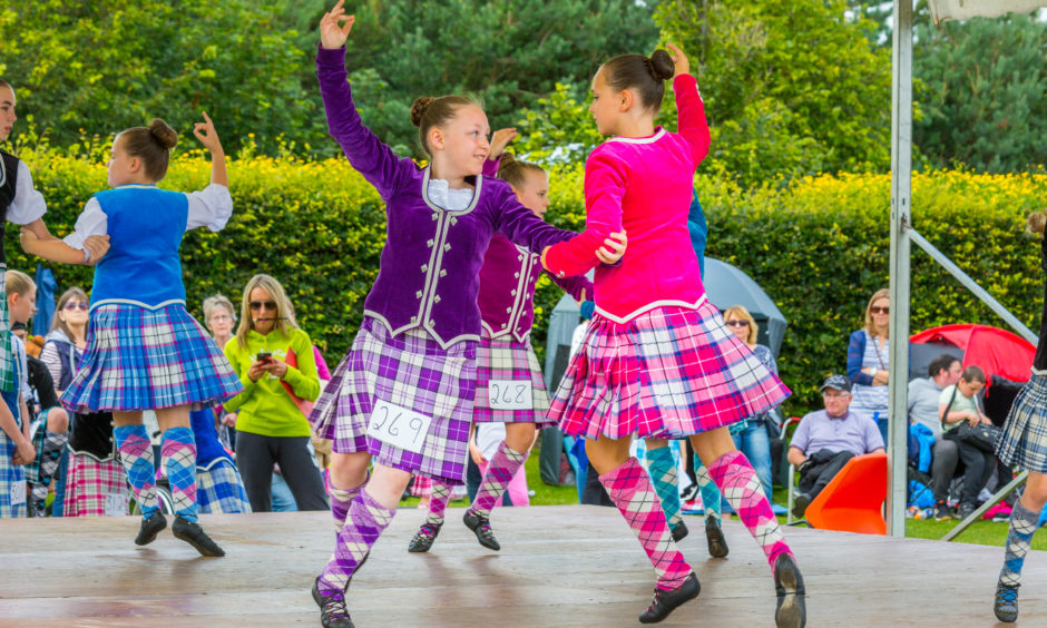Young competitors at the 2017 St Andrews Highland Games