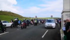 Bikers set off from Arbroath for the Steven Donaldson memorial ride-out.