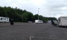 Travellers at Broxden Park and Ride