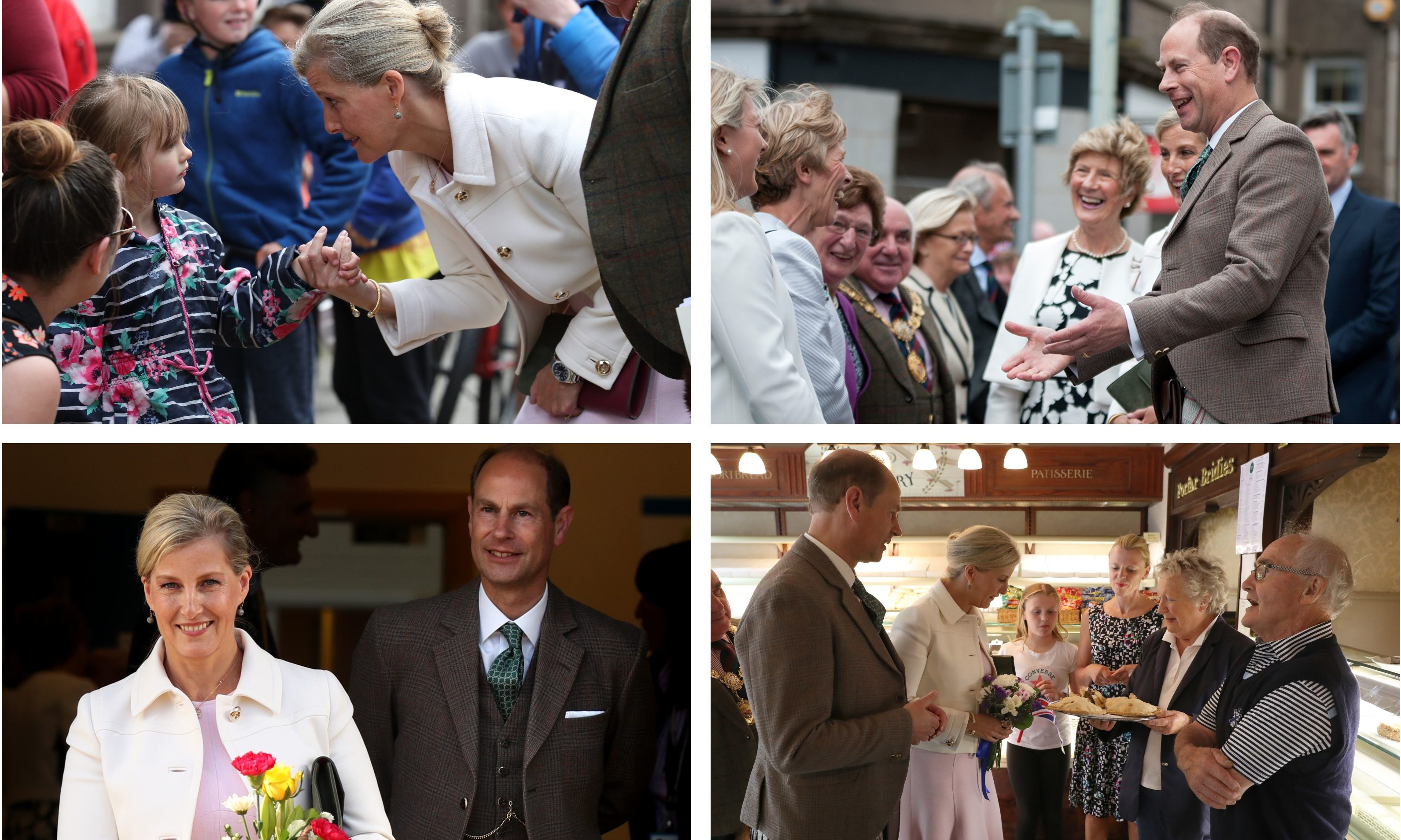 The Earl and Countess of Forfar pay their first visit to the town.