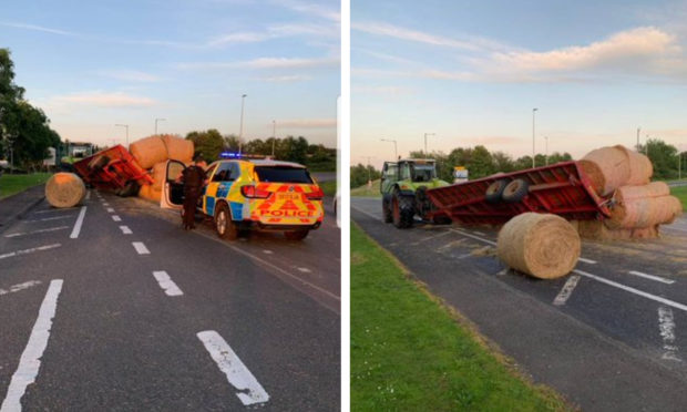 The bales on the A9.