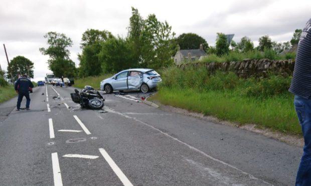 The scene of the crash near Friockheim.