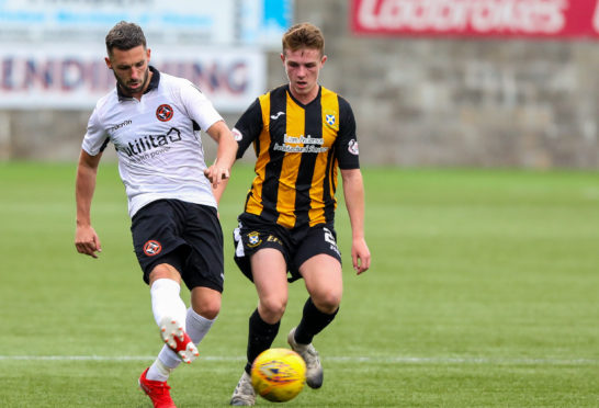 Nicky Clark in action against East Fife.