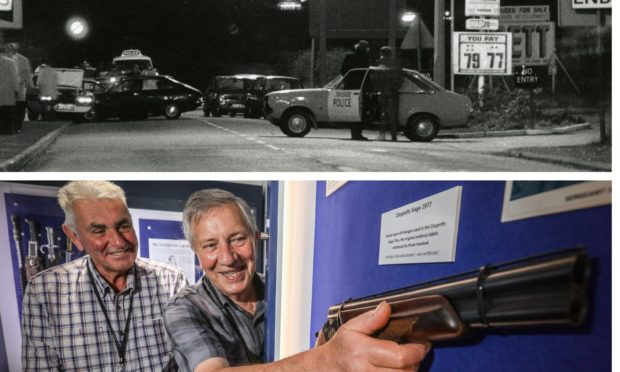 The gun from the Claypotts Siege is on display.