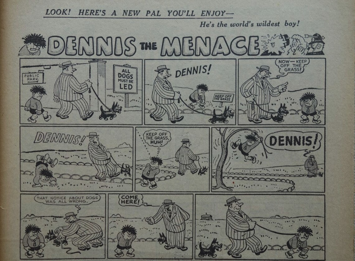 Dennis the Menace's first appearance.