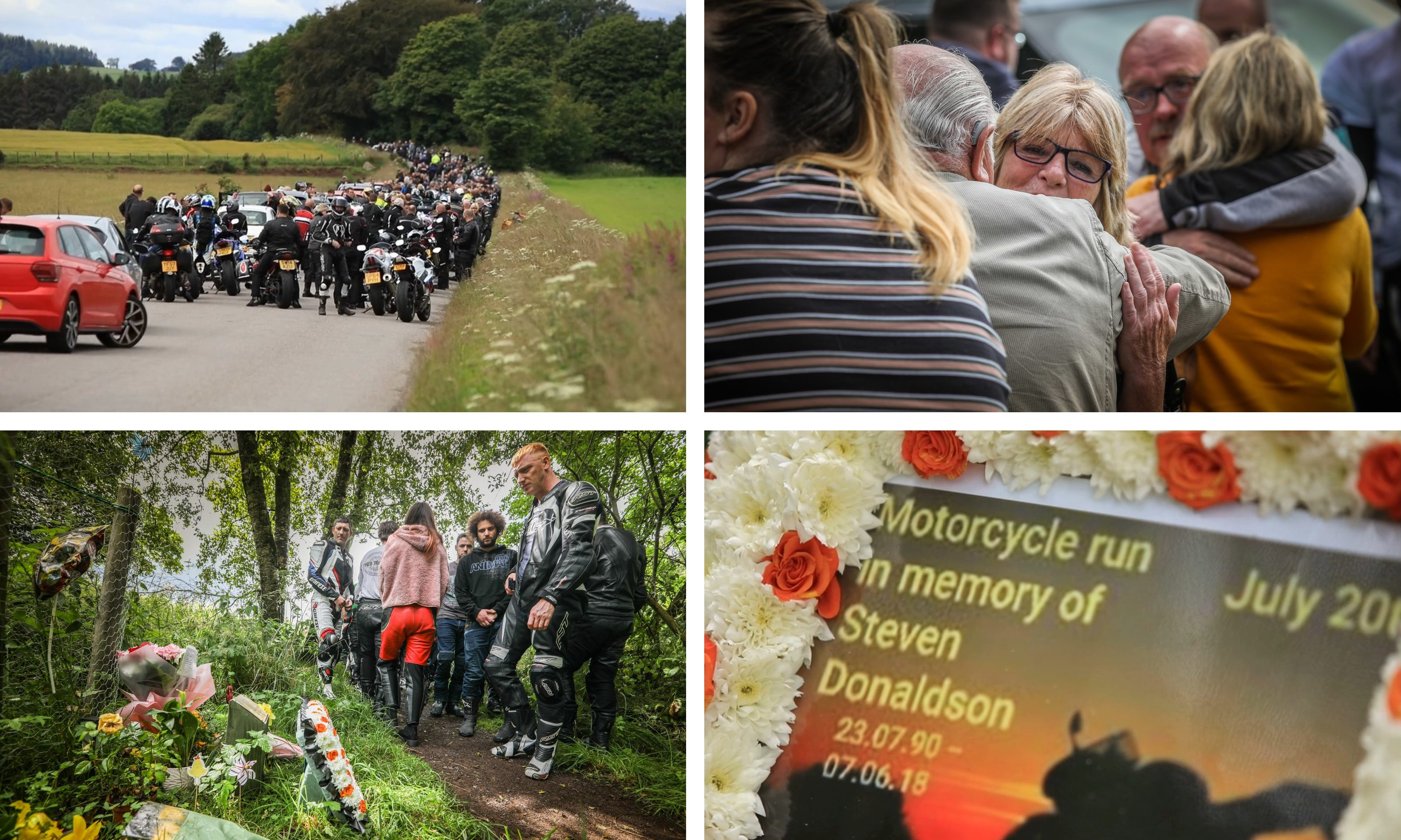 The Steven Donaldson memorial ride-out.