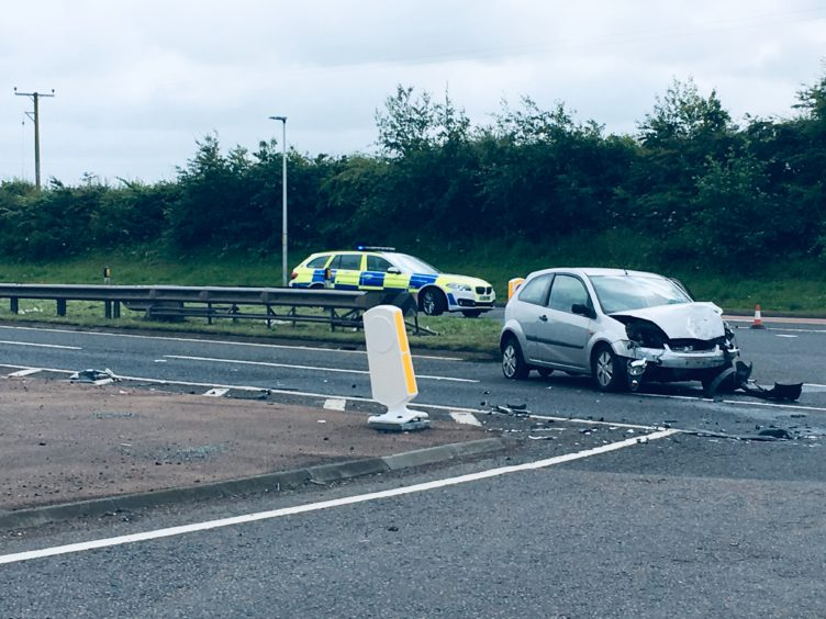 The Ford Fiesta involved in the A90 crash in July 2019.