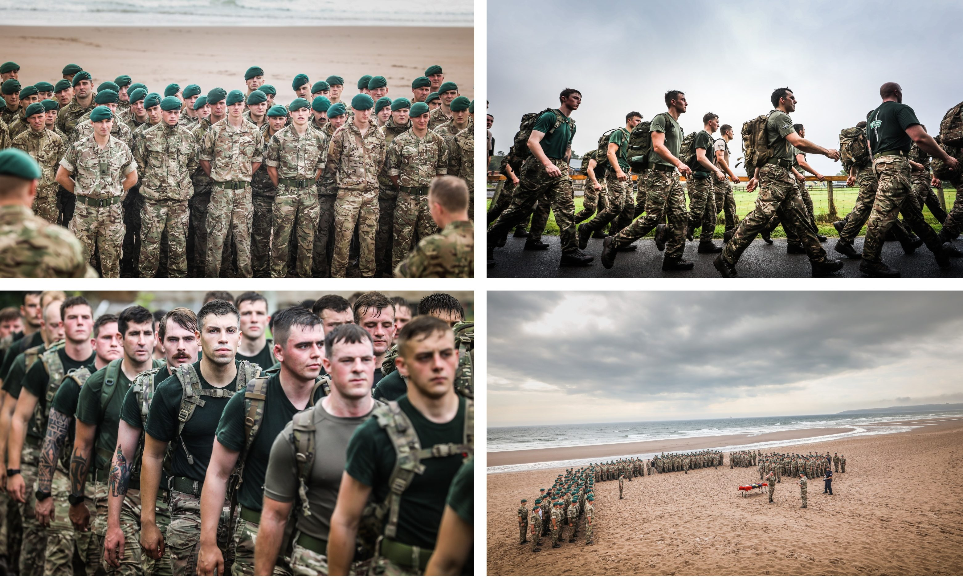 The 45 Commando group at RM Condor marked the changing of the guard. Pictures: Mhairi Edwards.