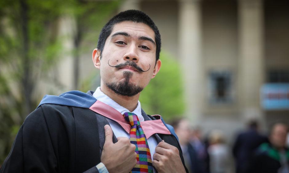 Luke Fornari, 22, graduates in Computer Arts from Inverness.
