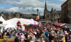 Kirkcaldy town square was packed