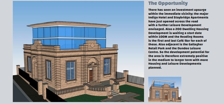 The proposed extension of the Reading Rooms.