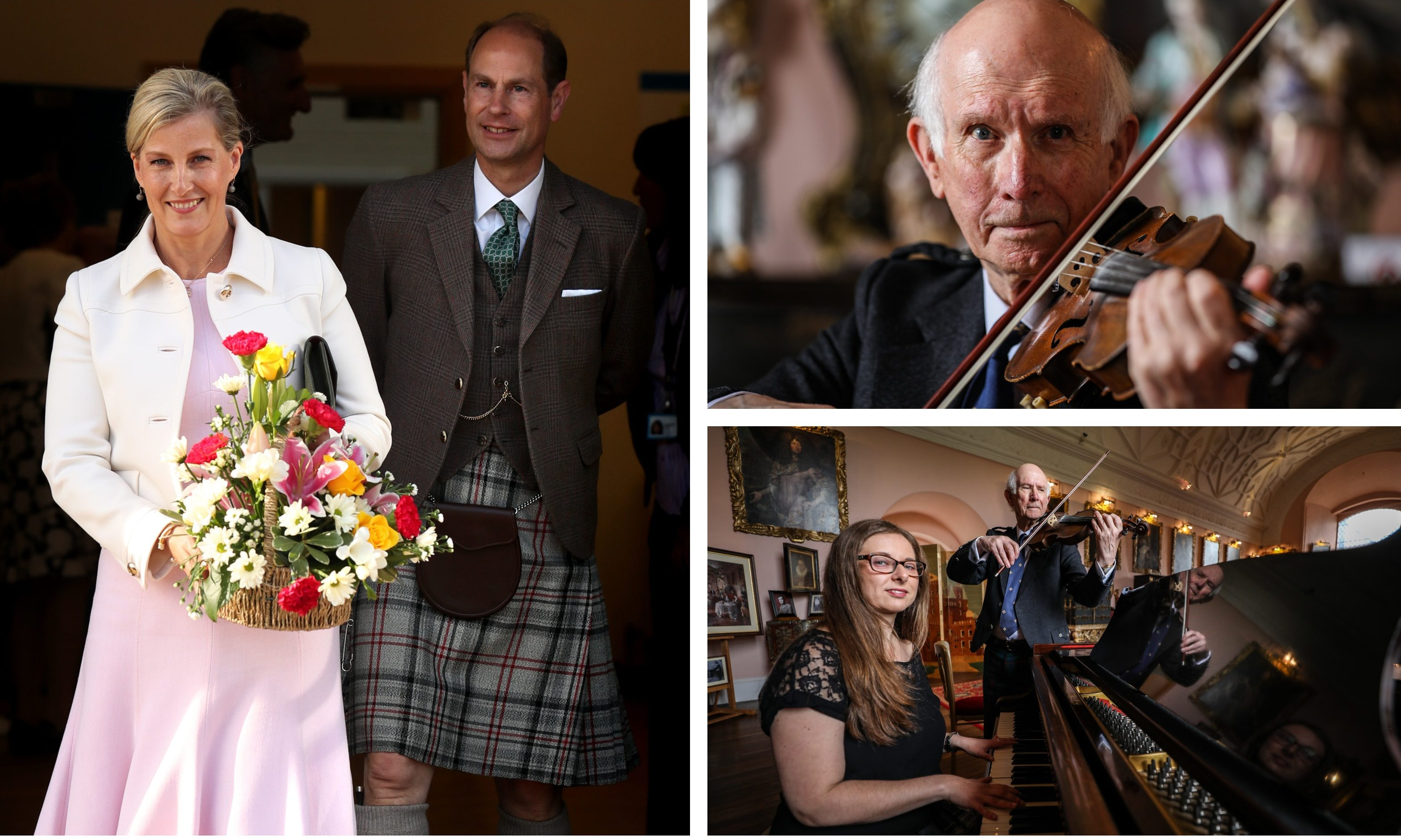 Sandy Ingram was asked to compose a tune for the new Earl and Countess of Forfar.