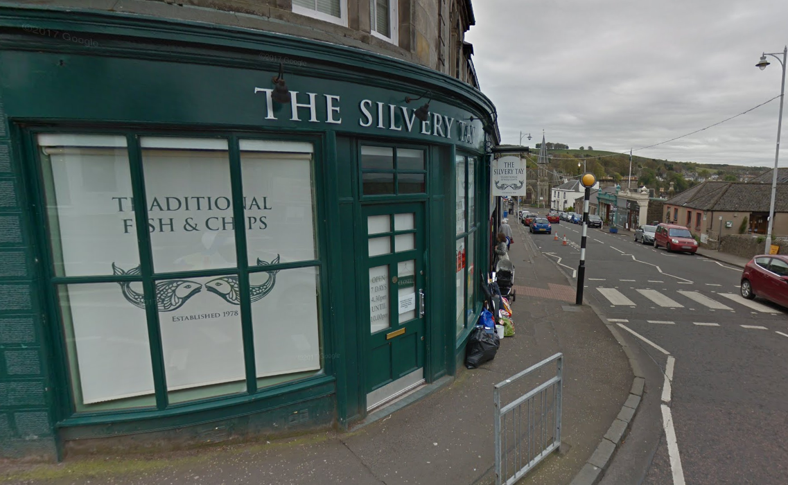 The Silvery Tay chip shop in Newport.