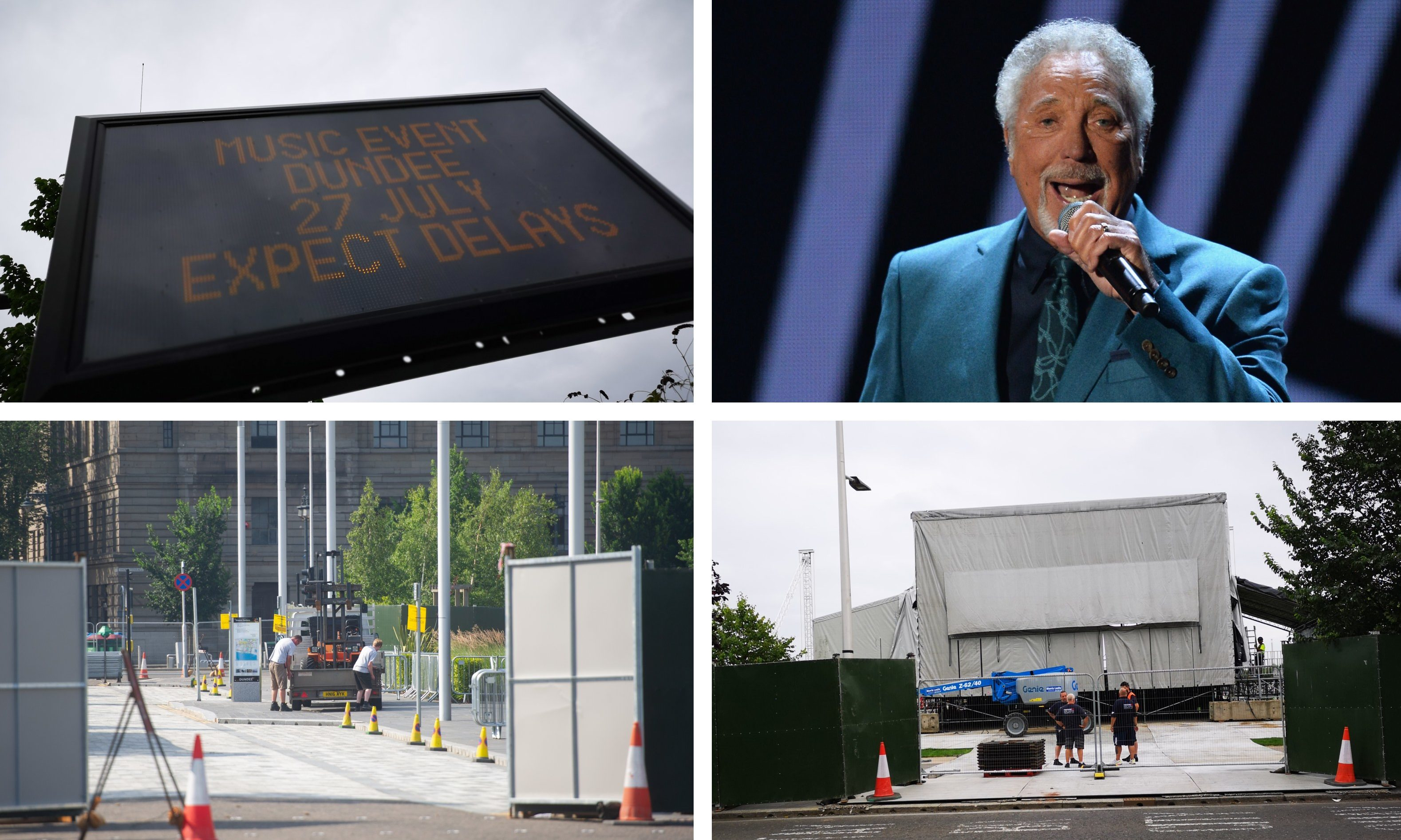 Dundee will welcome Sir Tom Jones on Saturday.