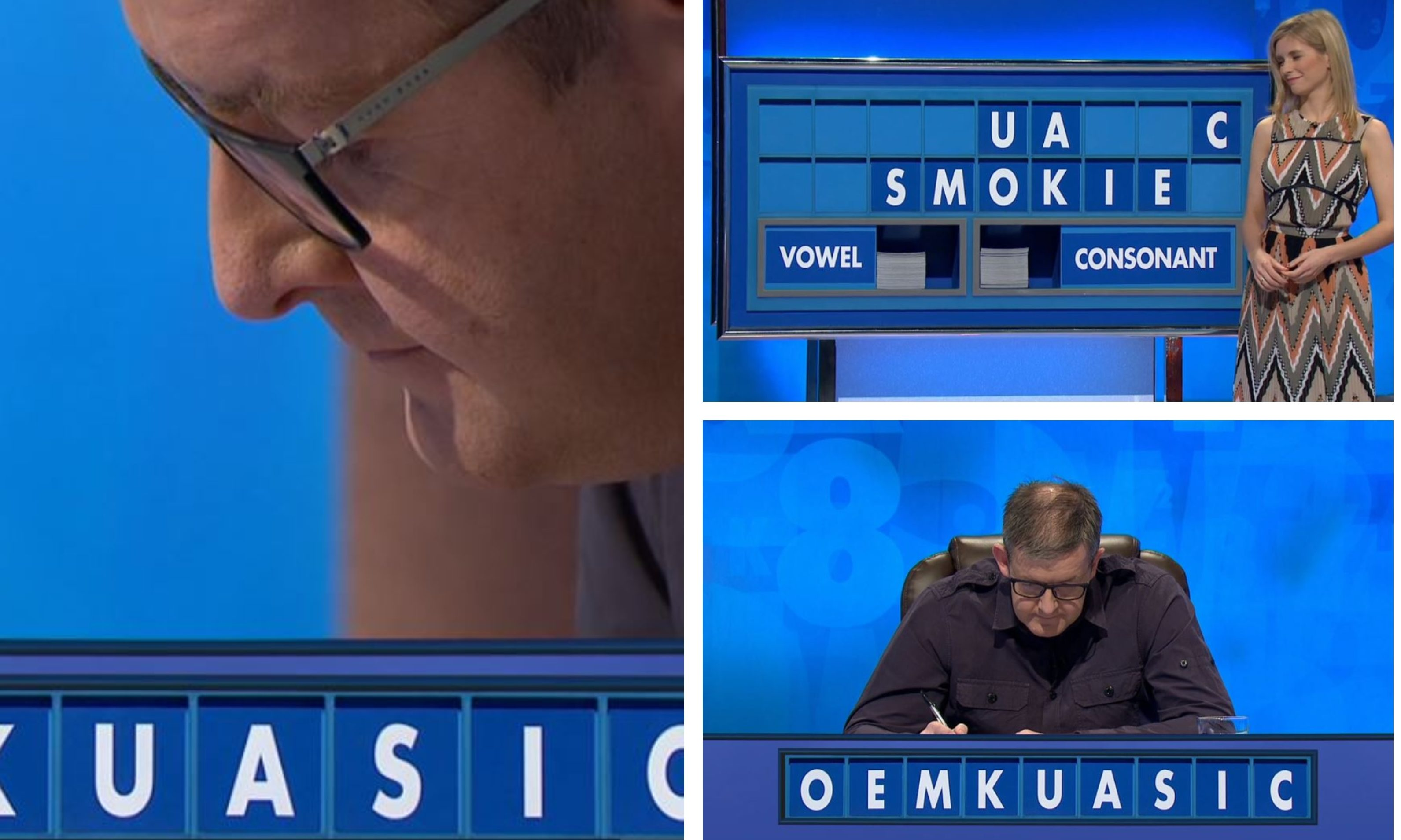 Colin flew the flag for the Arbroath smokie on Countdown.